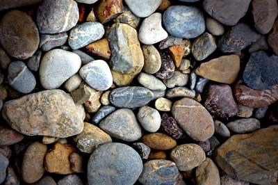landscape supplies pebbles